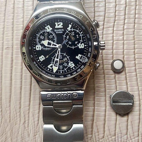 Swatch Other - Rare Vintage Unused Swatch Irony Chrono S.S. Quart